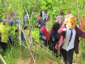 "Pupils at Aultmore Park Primary ""Becoming Animals""."